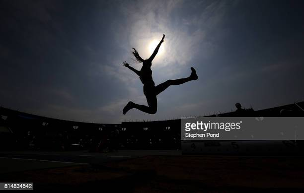 Urte Bacianskaite of Lithuania in action during the long jump in the girls heptathlon on day four of the IAAF U18 World Championships at the Kasarani...