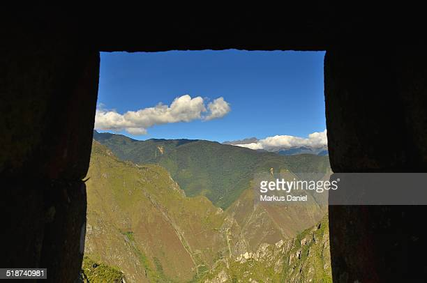 Urubamba River Valley from Machu Picchu, Peru