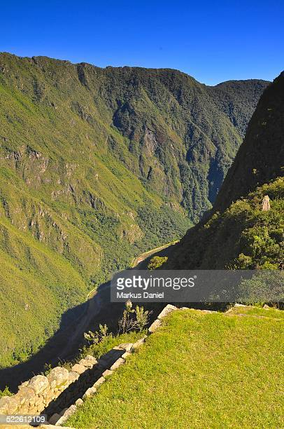 """urubamba river valley from machu picchu, peru - """"markus daniel"""" stock pictures, royalty-free photos & images"""