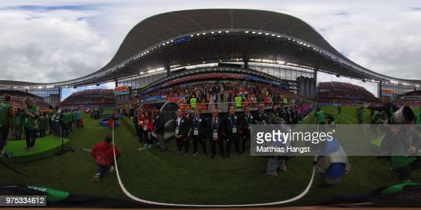 Uruguay bench is seen prior to the 2018 FIFA World Cup Russia group A match between Egypt and Uruguay at Ekaterinburg Arena on June 15 2018 in...