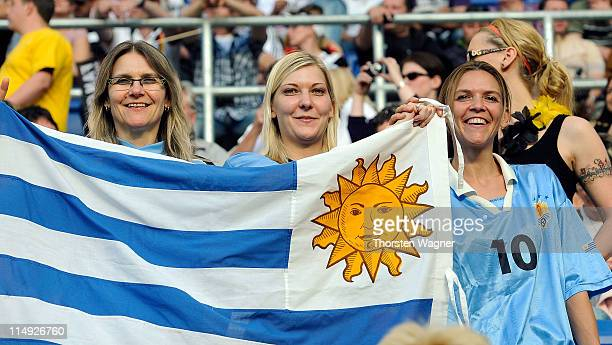 Uruguay fans cheer prior to the international friendly charity match between Germany and Uruguay on May 29 2011 in Sinsheim Germany