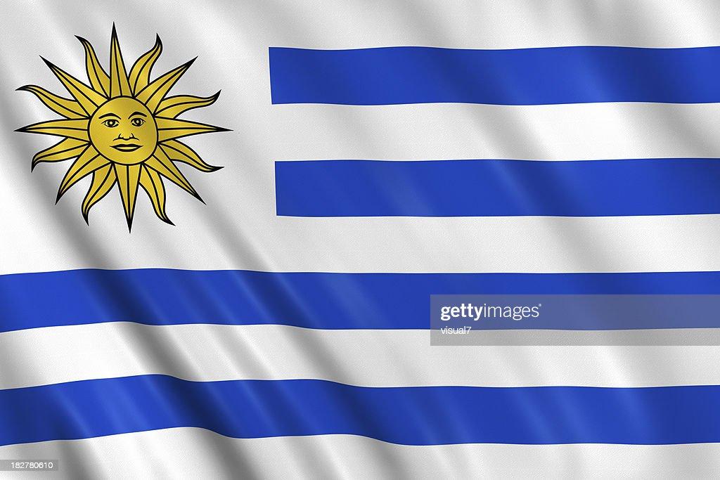 uruguay flag : Stock Photo