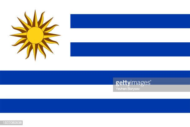 uruguay flag simple illustration for independence day or election - south america stock pictures, royalty-free photos & images