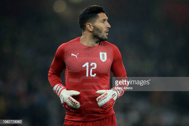 Uruguay goalkeeper Martin Campana during the International Friendly between Brazil and Uruguay at Emirates Stadium on November 16 2018 in London...