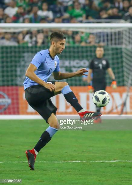 Uruguay midfielder Rodrigo Bentancur controls the ball during the soccer match between Mexico and Uruguay on September 7 2018 at NRG Stadium in...