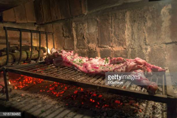 Uruguayan barbecue, home made meat on grill