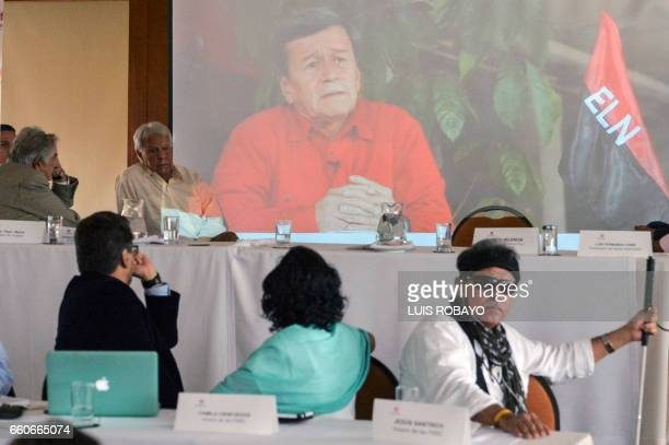 Uruguayan former President and guerrillas Jose Mujica Spanish former Prime Minister Felipe Gonzalez FARC members Ivan Marquez Camila Cienfuegos and...