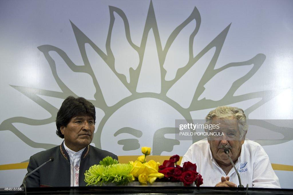 URUGUAY-BOLIVIA-MUJICA-MORALES : News Photo