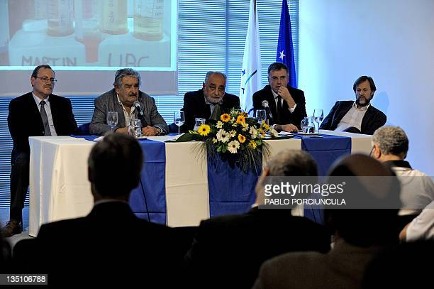 Uruguay's President Jose Mujica speaks during the commemoration of the Uruguayan Pasteur Institute's 5th anniversary accompanied by his Culture...