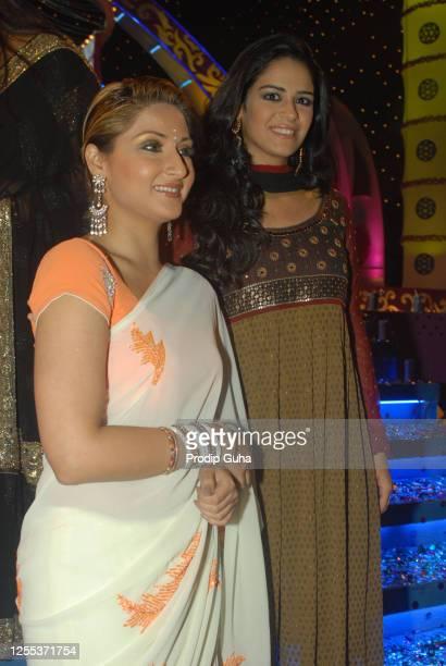 Urvashi Dholakia and Mona Singh attend The Indian Television Awards on November 16, 2007 in Mumbai, India.
