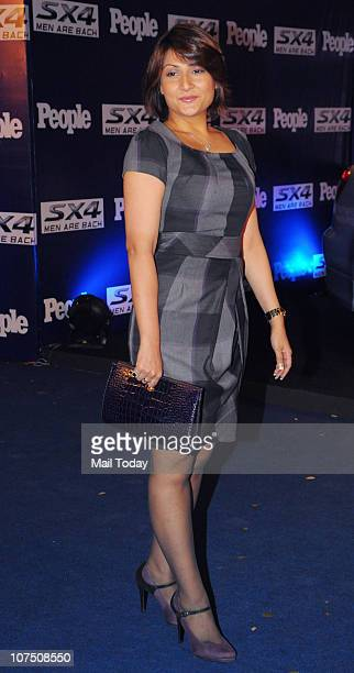 Urvashi Dholakia arrives to attend a People Magazine theme party in Mumbai on December 8, 2010.