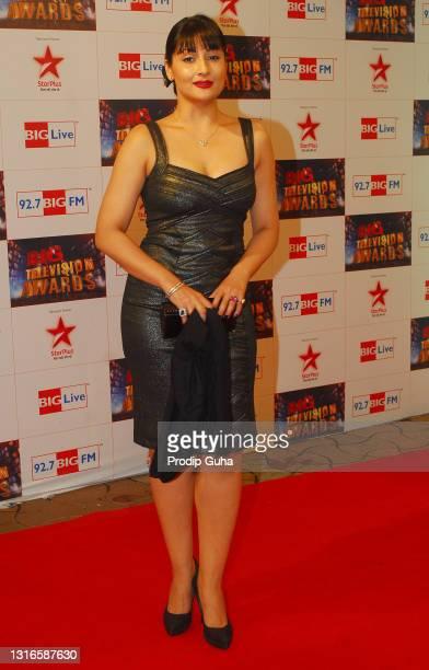 Urvashi Dholakia attends the 'Big Television awards' on June 14, 2011 in Mumbai, India.