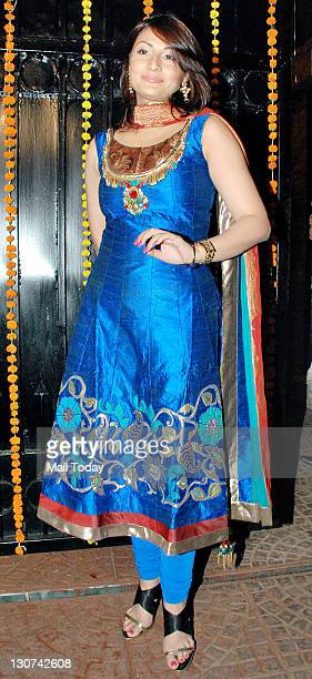 Urvashi Dholakia during the diwali bash hosted by Jeetendra and his daughter Ekta Kapoor at their residence in Juhu, Mumbai.