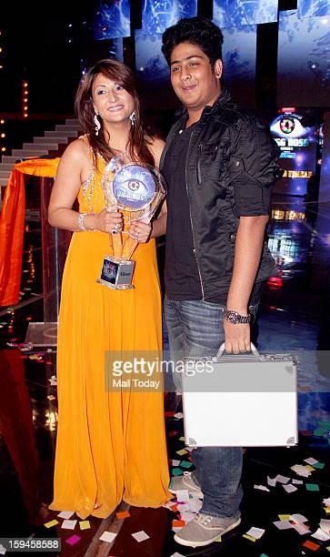 Urvashi Dholakia winner of a Bigg Boss 6 during Grand Finale in Mumbai.