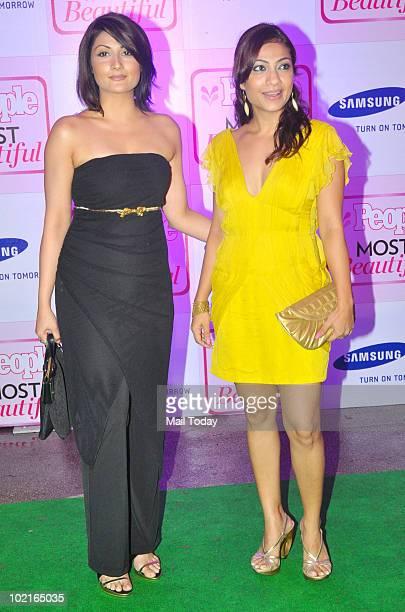 Urvashi Dholakia with Tarana Raja at People magazine�s �Most Beautiful� bash in Mumbai on June 16, 2010.