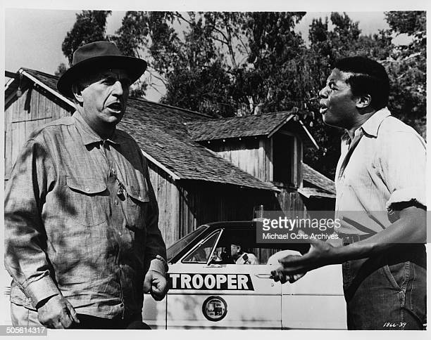 D'Urville Martin tries to reason with Ed Begley in a scene from the movie A Time to Sing circa 1968