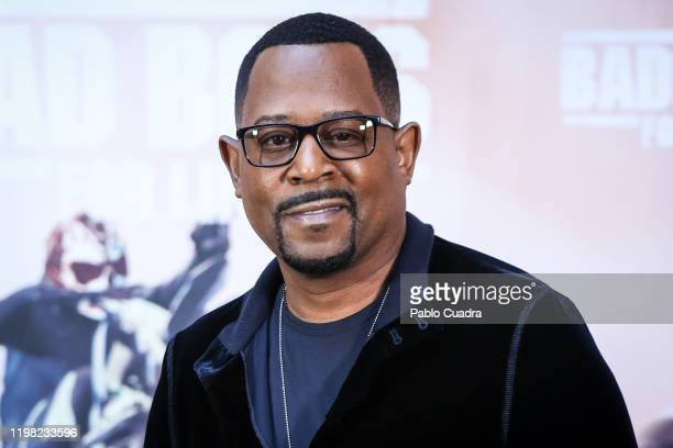 Us actor Martin Lawrence attends 'Bad Boys For Life' photocall at Villa Magna hotel on January 08 2020 in Madrid Spain