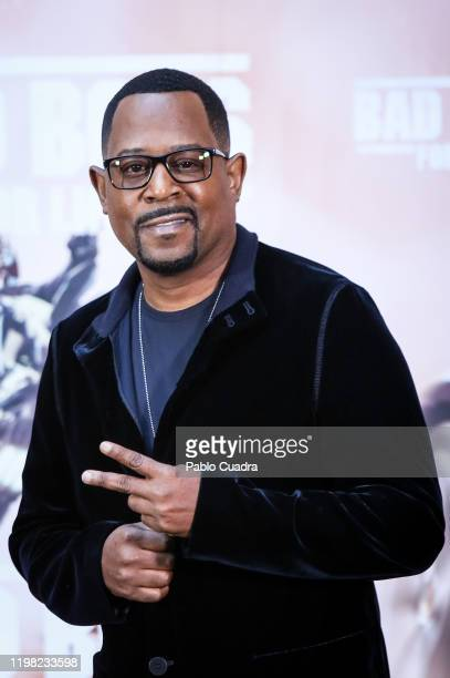 Us actor Martin Lawrence attends 'Bad Boys For Life' photocall at Villa Magna hotel on January 08, 2020 in Madrid, Spain.
