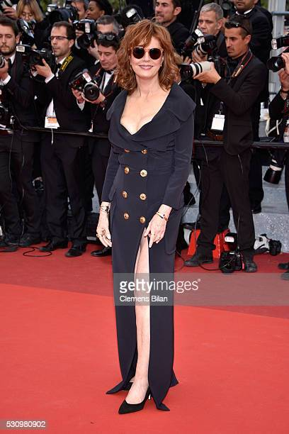Us actress Susan Sarandon attends the 'Money Monster' premiere during the 69th annual Cannes Film Festival at the Palais des Festivals on May 12 2016...