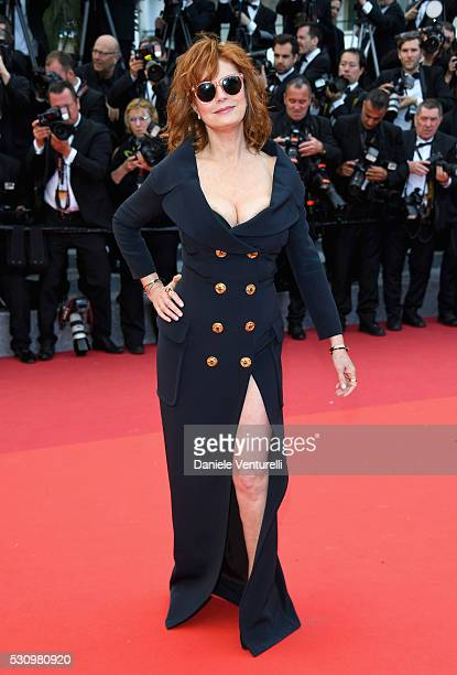 Us actress Susan Sarandon attends the Money Monster premiere during the 69th annual Cannes Film Festival at the Palais des Festivals on May 12 2016...
