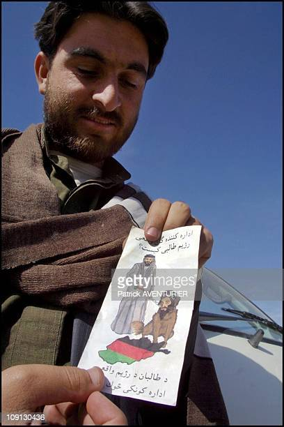 Us Air Force Throws AntiBin Laden Pamphlets On The Spin Boldak Area During Its Series Of Bombings On June 12Th 2001 In Chaman Pakistan