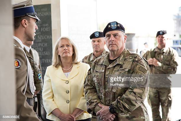 Us Army Commander Mark A Milley during visit in Warsaw on June 7 2016