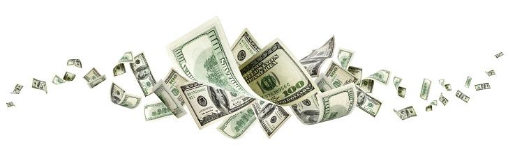 Us dollar bill. Washington american cash. Falling usd money back 1170584769