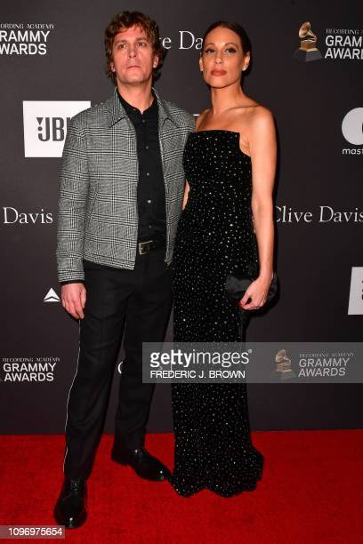 Us singersongwriter Rob Thomas and Marisol Thomas arrive for the traditional Clive Davis party on the eve of the 61th Annual Grammy Awards at the...