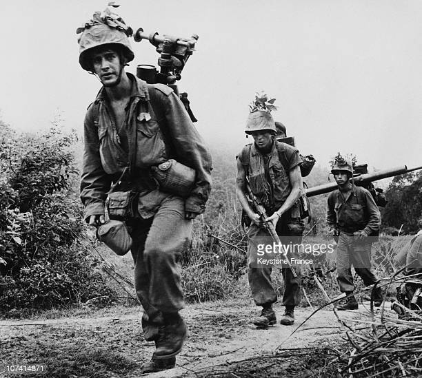 Us Soldiers In Vietnam War At South Of Chu Lai In VietnamAsia