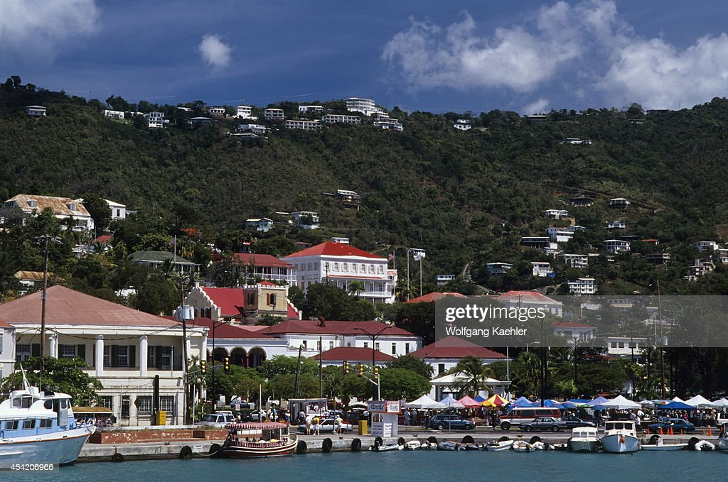 Us Virgin Island, St.thomas, View Of Charlotte Amalie.
