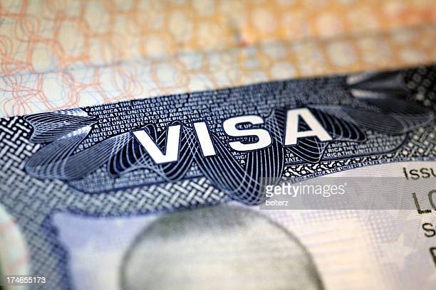 us visa - passport stamp stock photos and pictures
