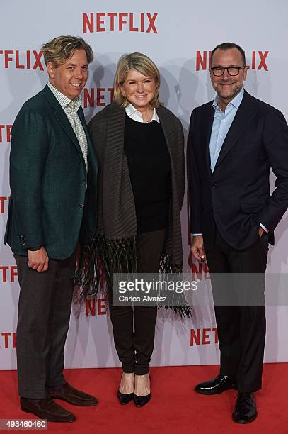 Usa Ambassador James Costos and husband Michael Smith attend the red carpet of Netflix presentation at the Matadero Cultural center on October 20,...