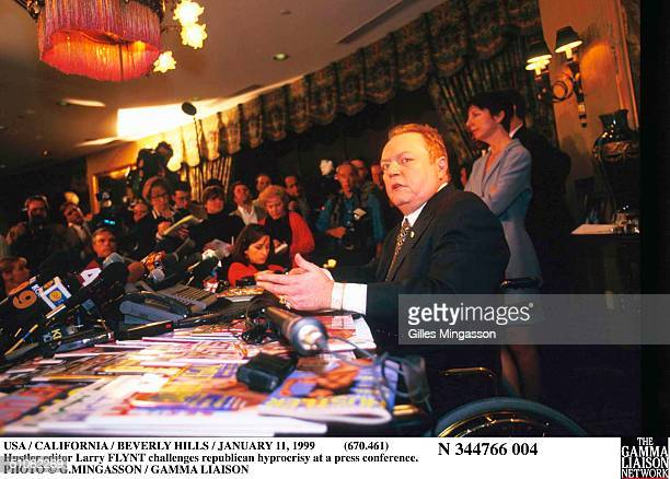 Usa / California / Beverly Hills / January 11, 1999 Hustler Editor Larry Flynt Challenges Republican Hyprocrisy At A Press Conference.