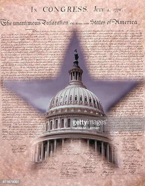 """usa, dc, washington, composite image of us capitol building and us constitution "" - {{relatedsearchurl(carousel.phrase)}} ストックフォトと画像"
