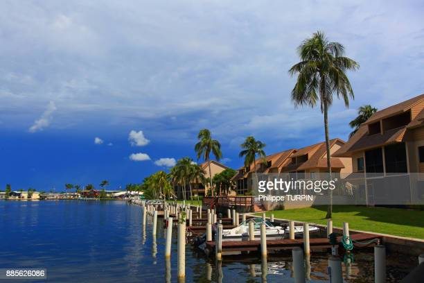 usa, florida, fort myers beach. - fort myers beach stock pictures, royalty-free photos & images
