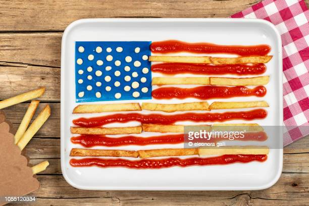 usa food flag - cultura americana - fotografias e filmes do acervo