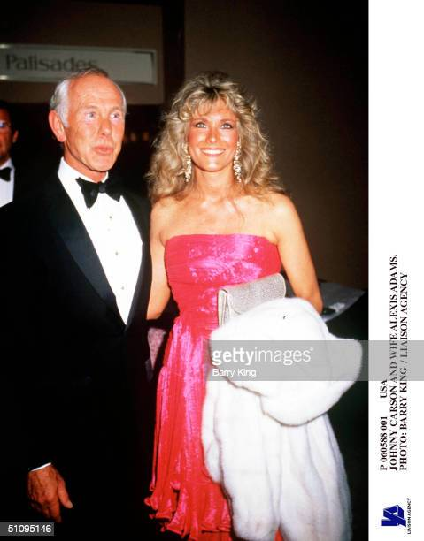 Usa Johnny Carson And Wife Alexis Adams