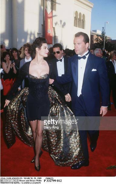 Usa / Los Angeles / March 1989 61St Oscars : Demi Moore And Bruce Willis