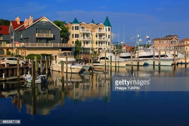 Usa, New Jersey, Cape May. Marina