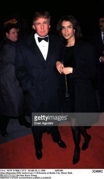 Usa / New York City / March 1998 Time Magazine 75Th Anniversary Celebration At Radio City Music Hall Donald Trump And Date Kara Young