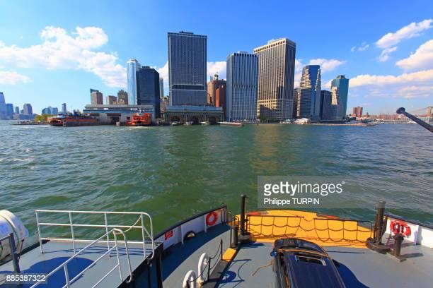 usa, new york, manhattan. staten island ferry - ilha staten - fotografias e filmes do acervo