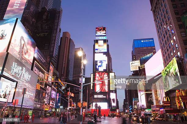 Usa, New York State, New York City, Times Square, cityscape at dusk