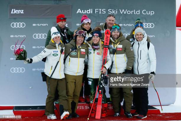 Usa Team, Mikaela Shiffrin of USA takes 1st place during the Audi FIS Alpine Ski World Cup Women's Giant Slalom on December 28, 2019 in Lienz Austria.