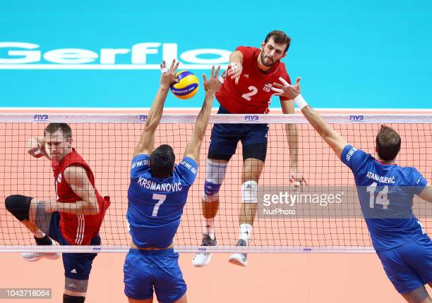 Usa v Serbia FIVP Men's World Championship Final 34 Aaron Russell of Usa at Pala Alpitour in Turin Italy on September 30 2018