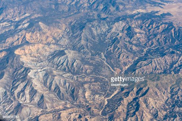 usa,california,daytime aerial view from airplane - extreme terrain stock pictures, royalty-free photos & images