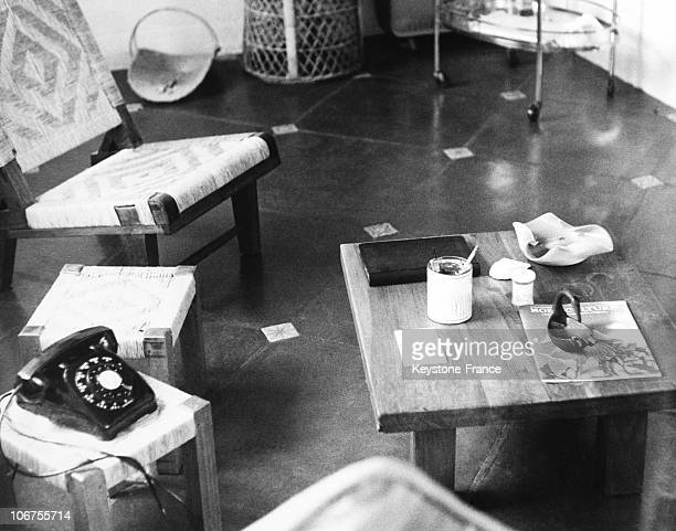 UsaCaliforniaHollywood Living Room Of Marylin Monroe S Villa After Her Death August 1962