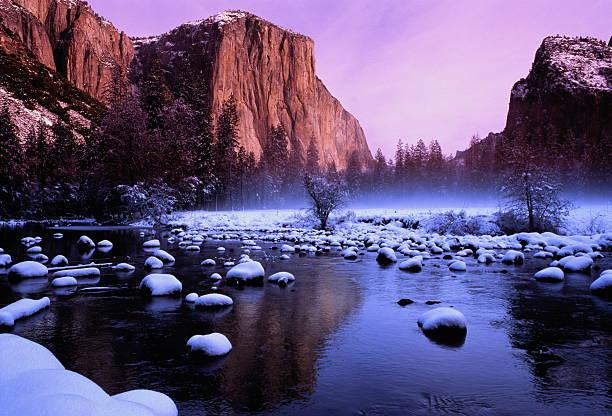 USA,California,Yosemite National Park,El Capitan & Merced River,dawn