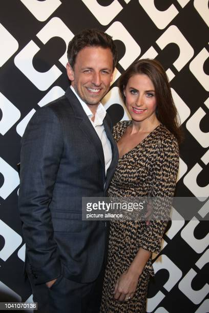 USactor Seth Meyers and Alexi Ashe attend Diane Von Furstenberg's Journey of A Dress Exhibition Opening Celebration at May Company Building at LACMA...
