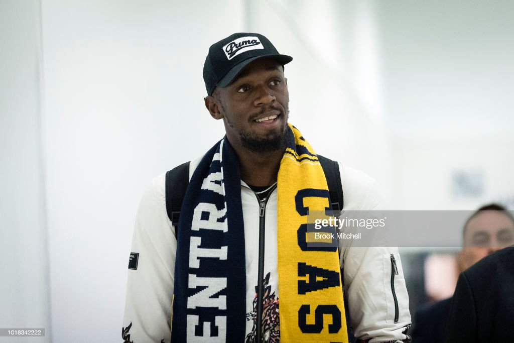 Usain Bolt Arrives In Sydney Ahead Of Trial With Central Coast Mariners : News Photo