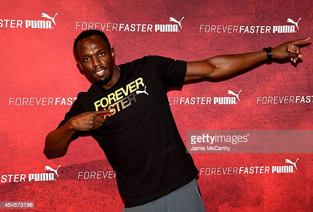 Usain Bolt attends The PUMA Store In Soho Training Event on September 3 2014 in New York City